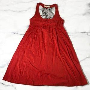 Lilka for Anthropologie Red Bow Back Dress